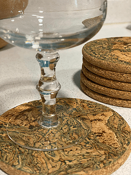Base de tasse en marbre vert (12 pièces)