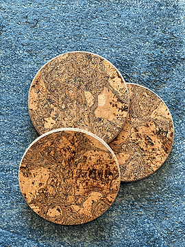 Posavasos de mármol negro (12 piezas)