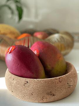 Small Natural Cork Fruit Bowl