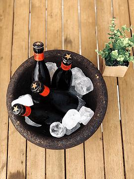 Tasse / seau à glace noire