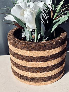 Vase Tradition IV Noir / Naturel