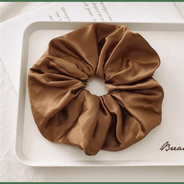 Brown Scrunchie L