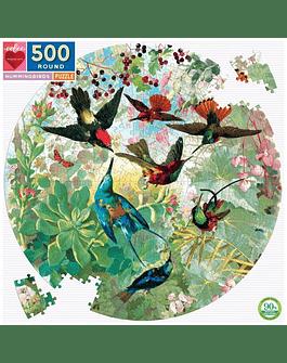 Puzzle redondo Hummingbirds 500 piezas