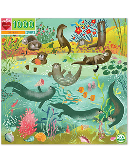 Puzzle Otters at play 1.000 piezas