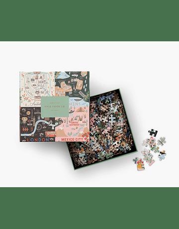 Puzzle Maps 500 piezas Rifle Paper Co.