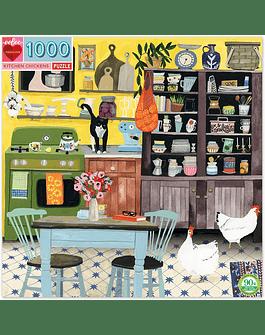 Puzzle Kitchen Chickens 1.000 piezas