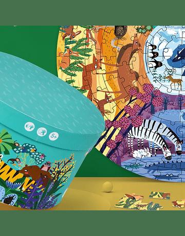 Puzzle Animals Around The World 150pcs redondo