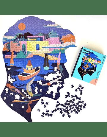Puzzle Serenity Mental Wealth con forma 1.046 piezas