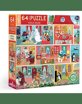 Puzzle infantil Koala House Party 64 piezas