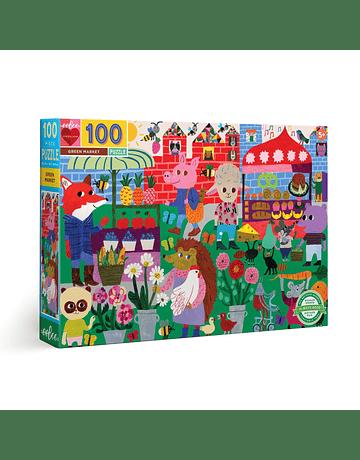 Puzzle infantil Green Market 100 piezas