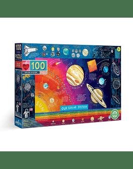 Puzzle infantil Sistema Solar 100 piezas
