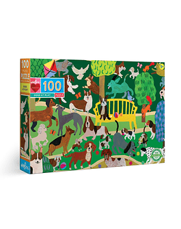Puzzle Dogs at Play 100 piezas