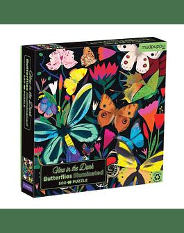 Puzzle Butterflies 500 piezas Glow in the Dark