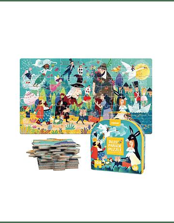 Puzzle Cuentos 104 Piezas con maleta