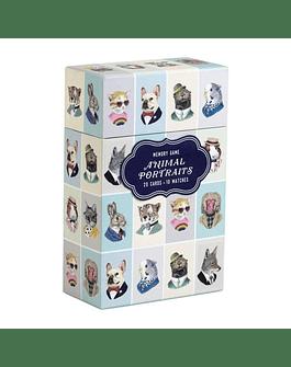 Juego Memory Game 10 pares Animal Portraits