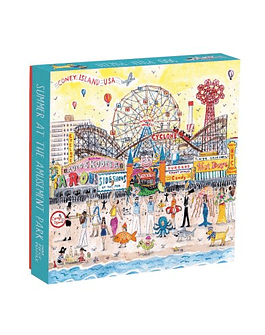 Puzzle Summer at the Amusement Park by Michael Storrings 500 piezas