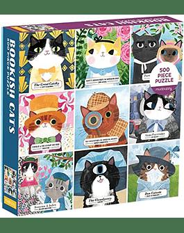 Puzzle Bookish Cats 500 piezas