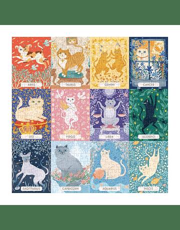 Puzzle Cat Zodiac 500 piezas Galison
