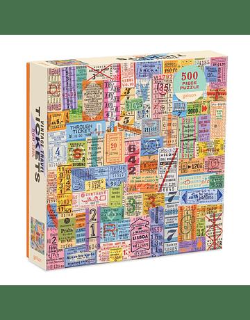 Puzzle Vintage Travel Tickets 500 Piezas