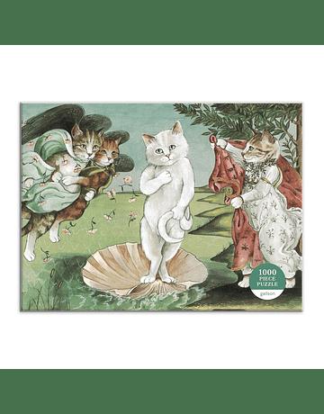Puzzle Birth of Venus Meowsterpiece of Western Art 1.000 piezas