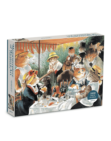 Puzzle Luncheon of the Boating Party Meowsterpiece of Western Art 1.000 piezas