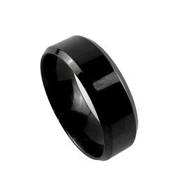 Anillo Minimal Tungsteno Color Negro