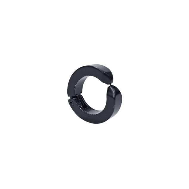 Aro Solitario Simulador de Perforación Negro