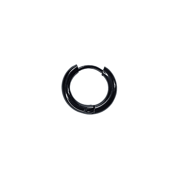 Argolla Solitaria Clicker Color Negro 6mm