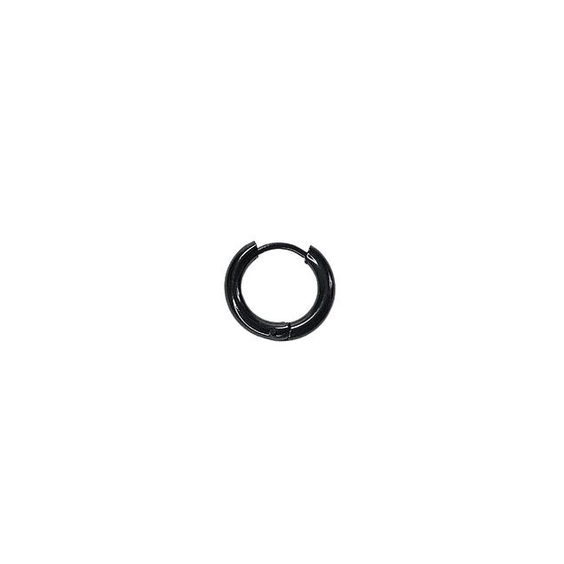 Argolla Solitaria Clicker Negro 4mm