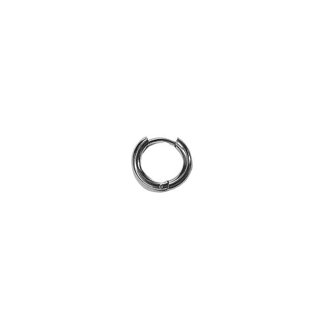 Argolla Solitaria Clicker Plateada 4mm