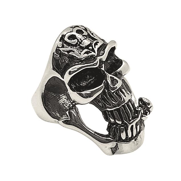 Anillo Skull Roses