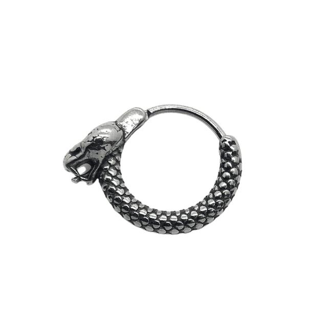 Argolla Solitaria Diseño Serpiente