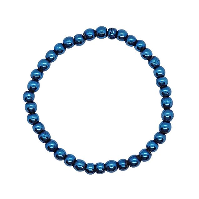 Pulsera Hematita Azul 6mm
