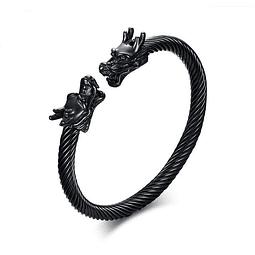 Pulsera Vikinga Acero Diseño Dragón I