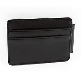 Clip Wallet Cuero Color Negro