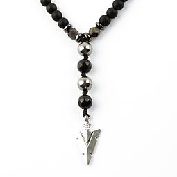 Collar Turmalina Diseño Punta de Flecha