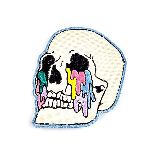 Parche Skull Crying Colors