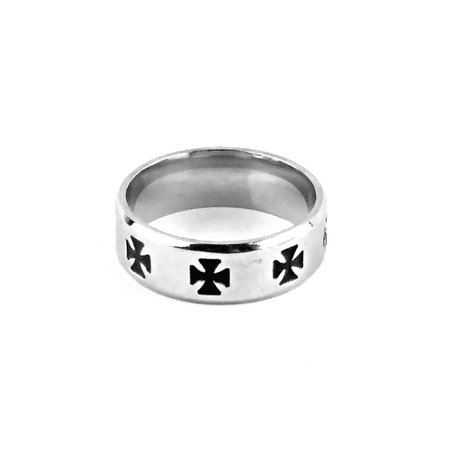 Anillo Ironcross Plano 8mm