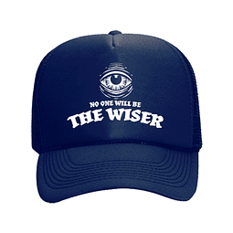Cap Trucker Azul The Wiser Logo Blanco