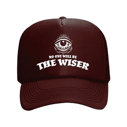 Cap Trucker Burdeo The Wiser Logo Blanco