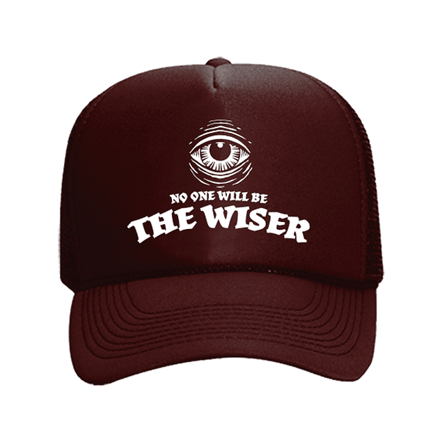 Cap Trucker Burdeo The Wiser Logo Blanco