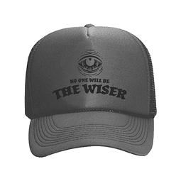 Cap Trucker Gris The Wiser Logo Negro