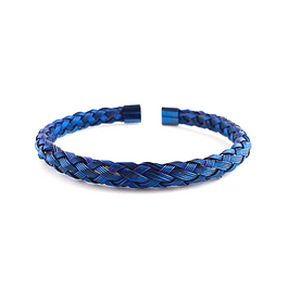 Bangle Acero Azul