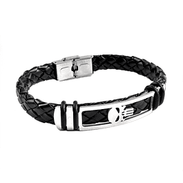Pulsera Cuero Punisher
