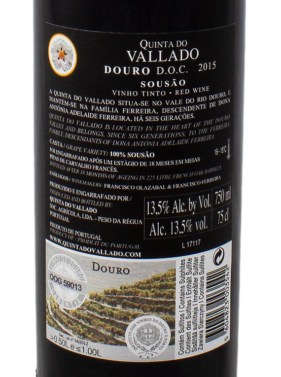 Quinta do Vallado Sousão 2015