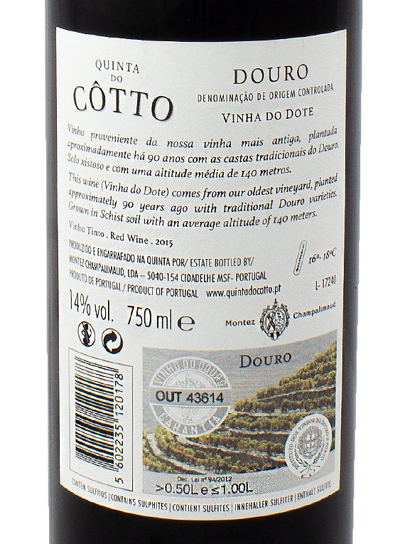 Quinta do Côtto Vinha do Dote 2015