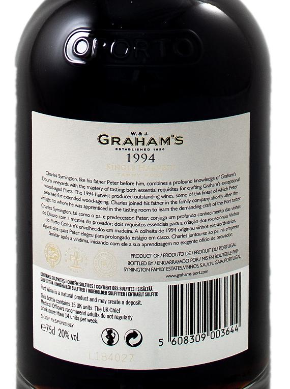 Graham's Single Harvest Tawny 1994 Port