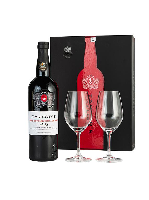 Taylor's Late Bottled Vintage Port 2014 & Glasses