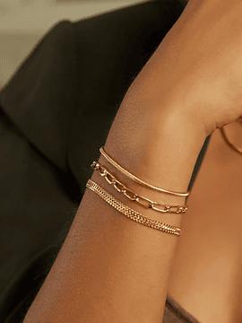 ALEYOLÉ | PULSERA ROUND SNAKE GOLD