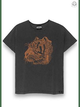 DEAR TEE   Polera Orange Tiger